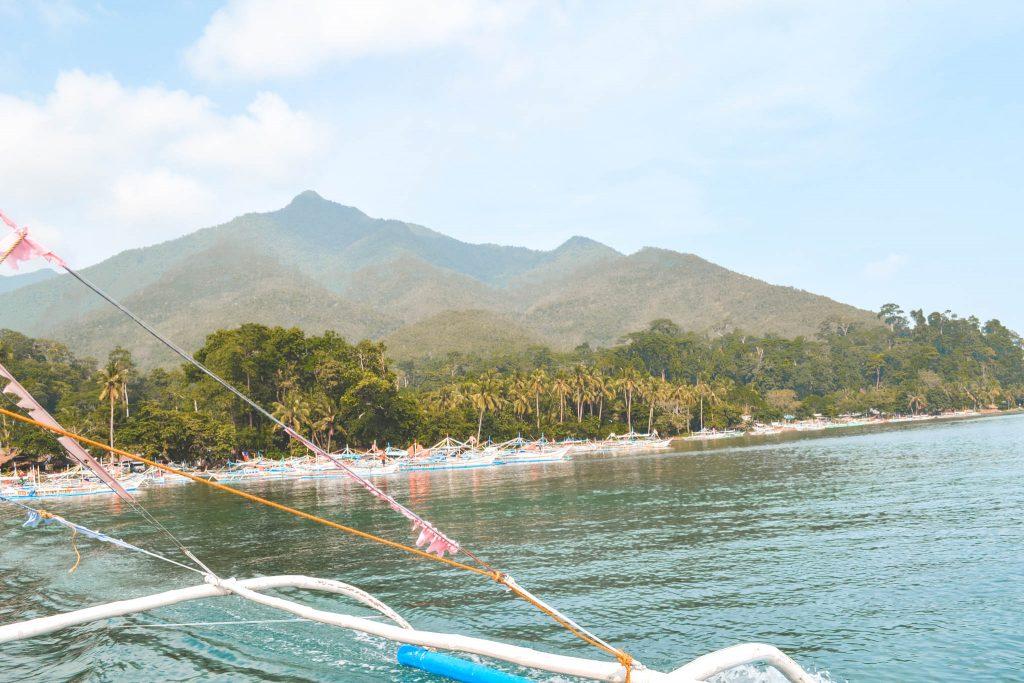 Palawan Island Hopping View from Boat