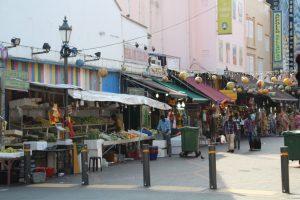 Singapore Street with Vendors