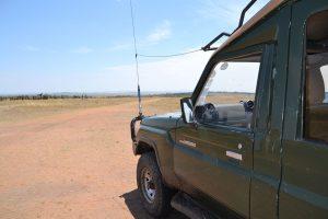 Jeep in Maasai Mara