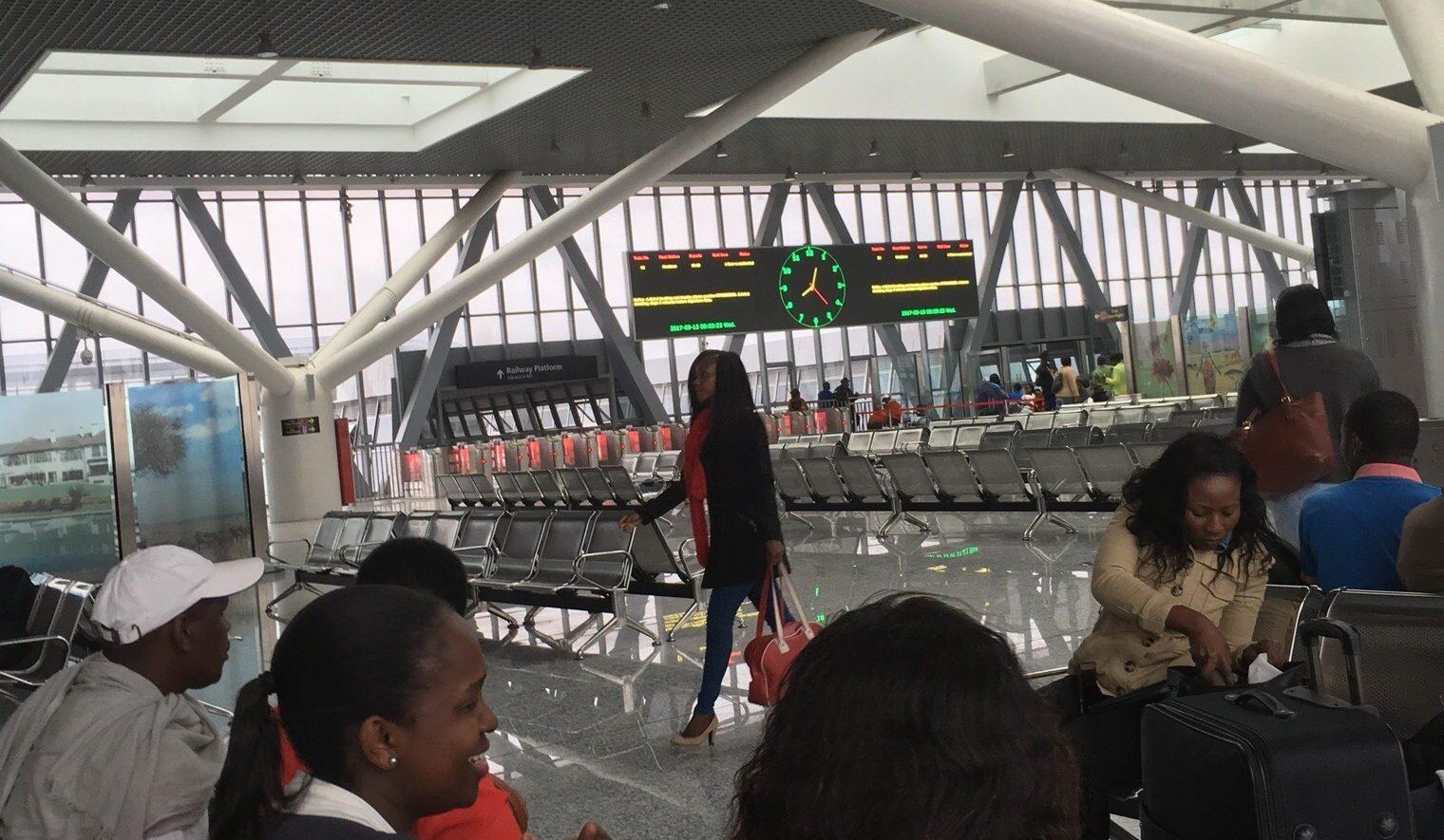 Taking the SGR in Kenya from Nairobi to Mombasa