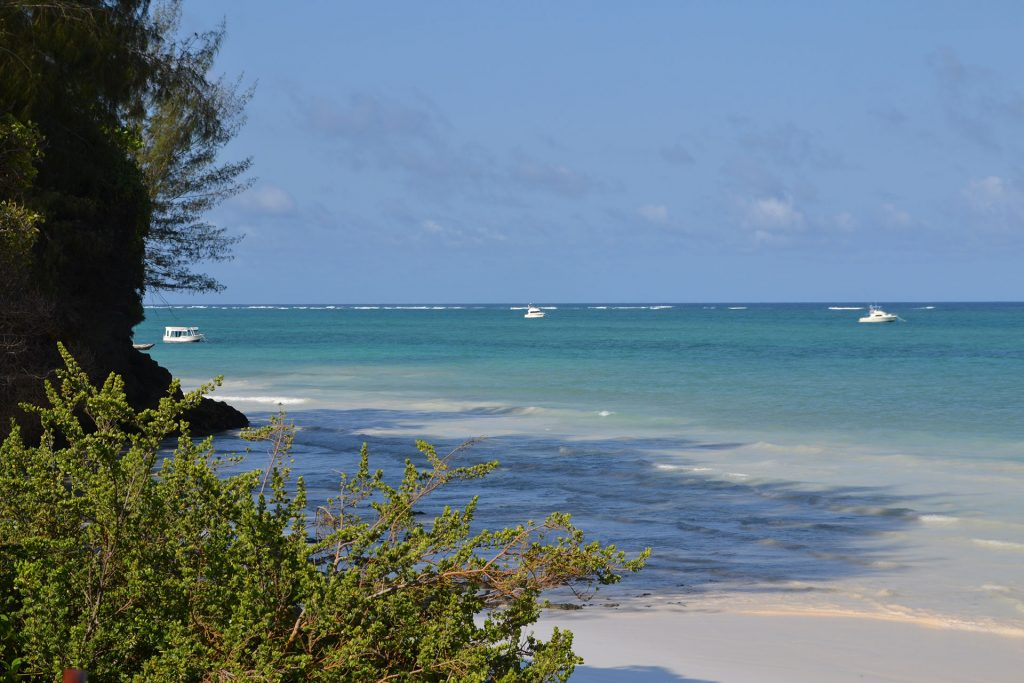 Diani Beach view on ocean