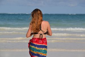 Girl from behind on Diani Beach