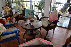 Cafe interior in Ho Chi Minh City