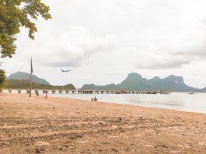 Plane departs Lio Beach