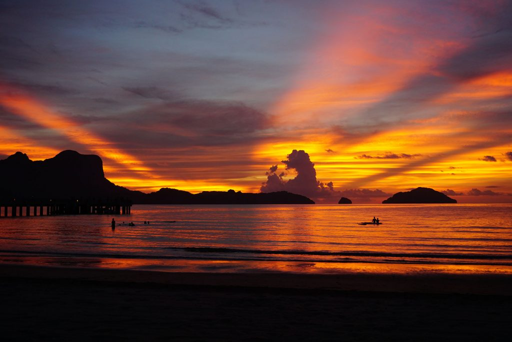 Sunset at Lio Beach Philippines