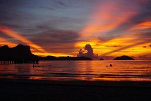 Sunset at Lio Beach Philippines