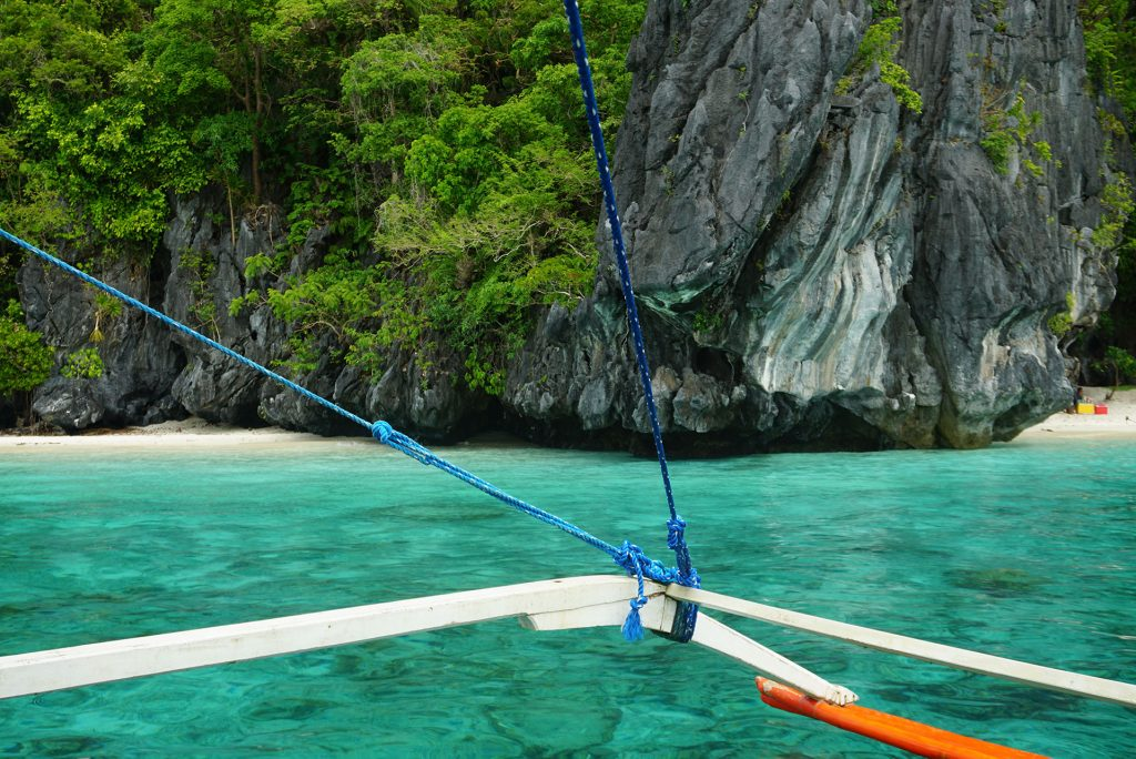 Turquoise Water Philippines from boat