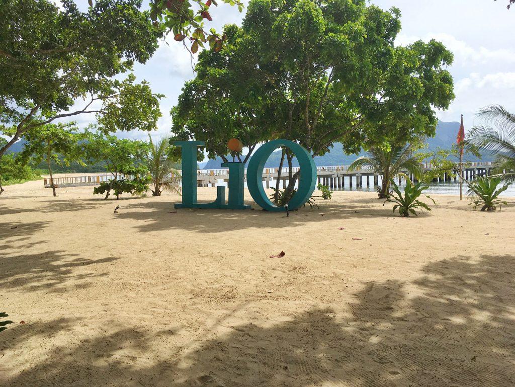 Lio Sign on the beach