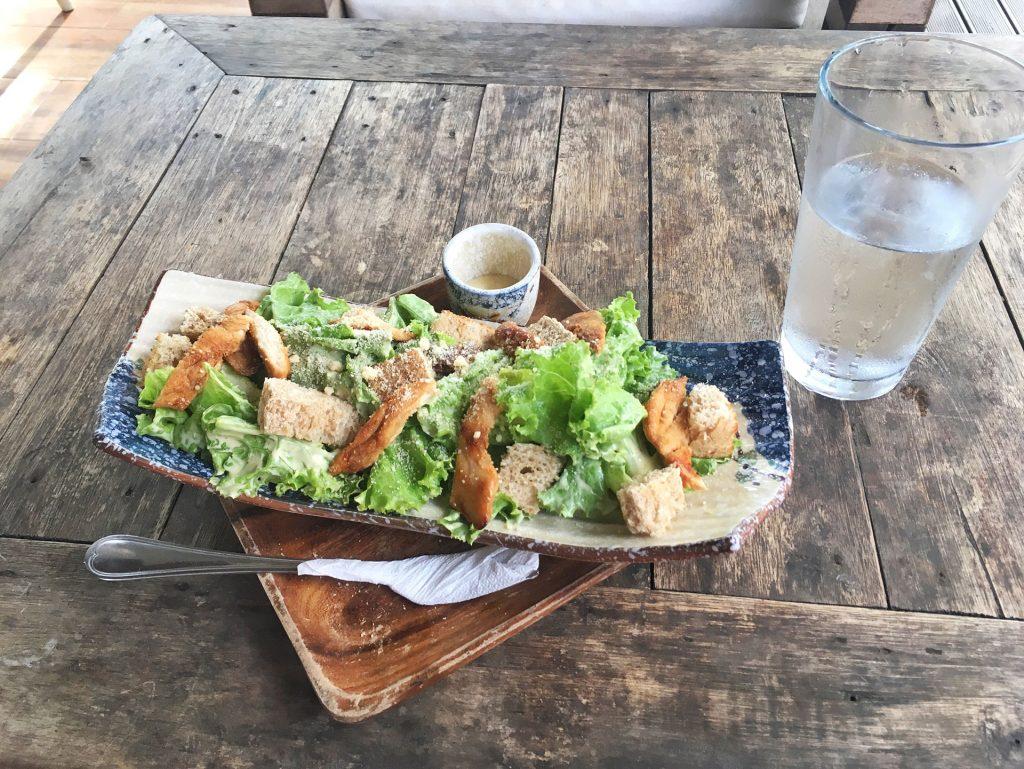 Salad at Restaurant Lio Beach