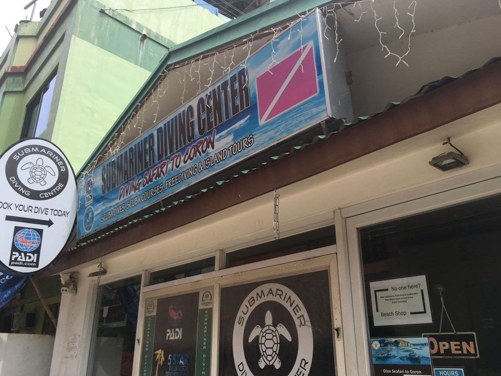 Submariner Diving Center sign