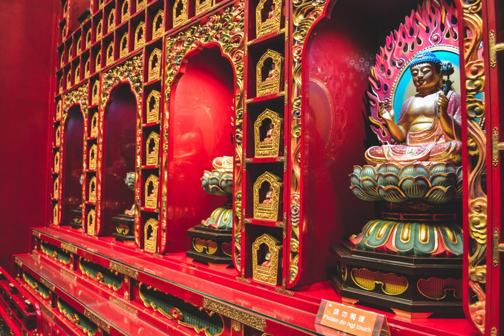 Inside Buddha Tooth Relic Temple
