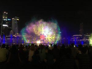 Light and Water Show at Marina Bay
