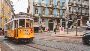 Cable Car in Lisbon Portugal