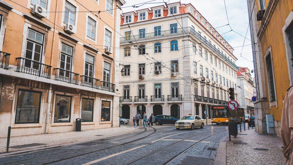 Buildings in Lisbon Portuga;