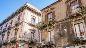 Buildings on the Streets of Catania Sicily