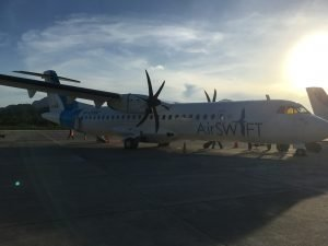 Flying AirSWIFT to El Nido