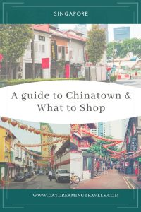 Chinatown Singapore Pin for Pinterest