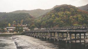 Bridge over water in Kyoto