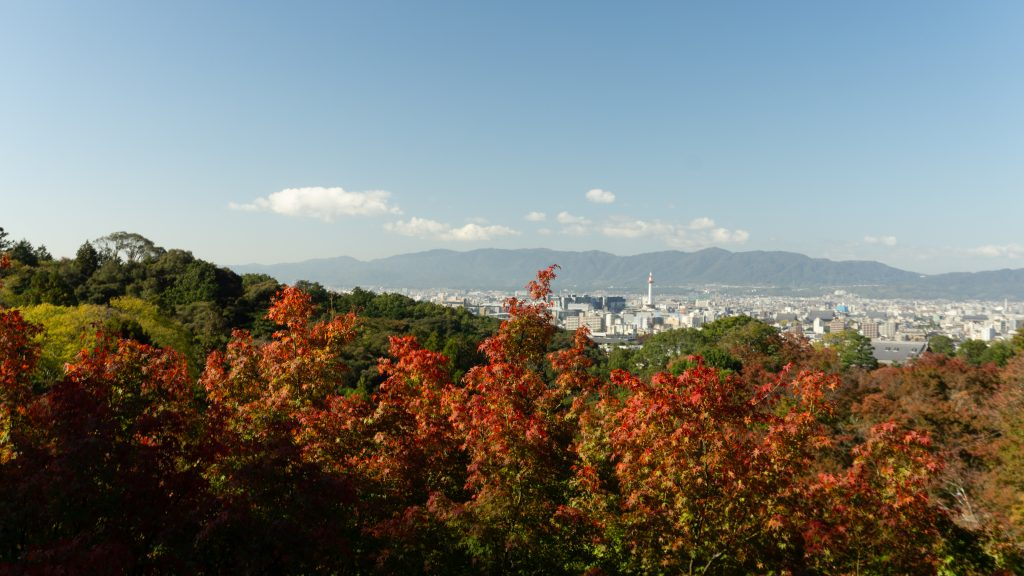 View of Kyoto from above