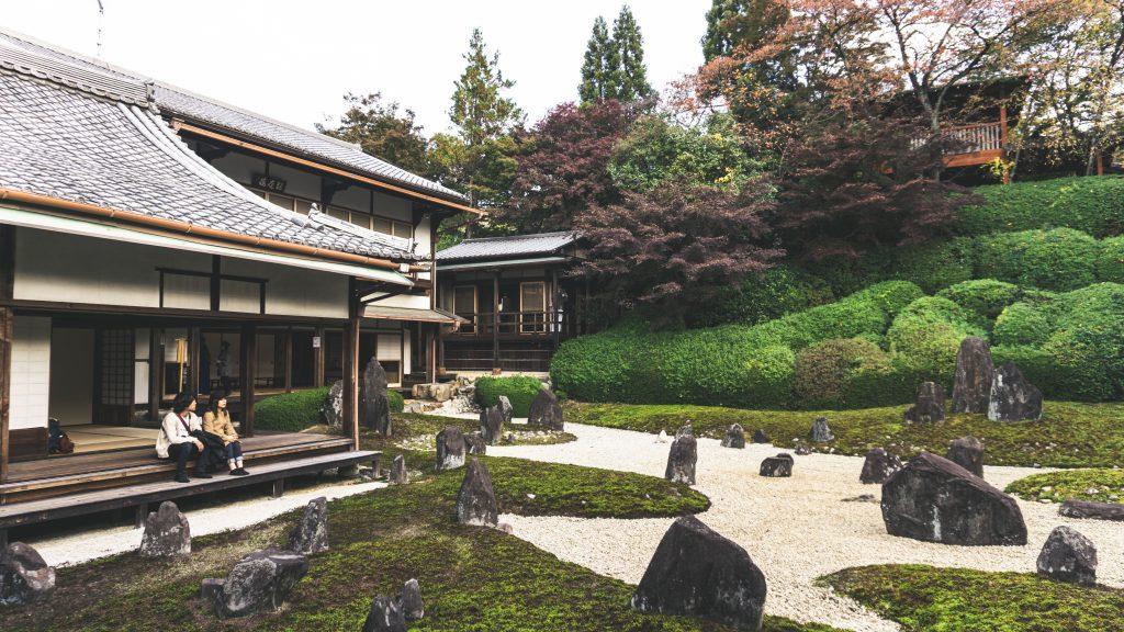 Kyoto Zen Garden with stones
