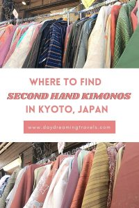 Second Hand Kimonos in Kyoto Pinterest Pin