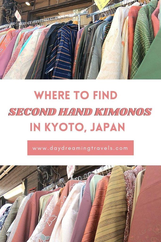 Second Hand Kimonos in Kyoto Pinterest Pin