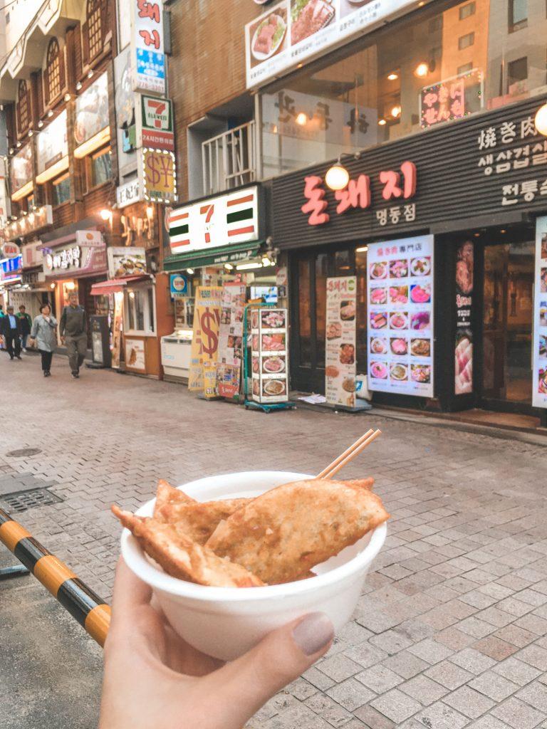 Food at Myeongdong Shopping Area