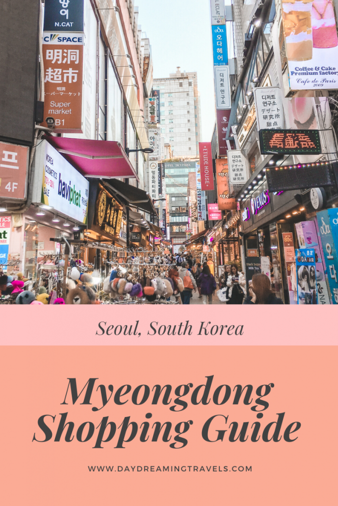 Myeongdong Shopping Guide Pinterest