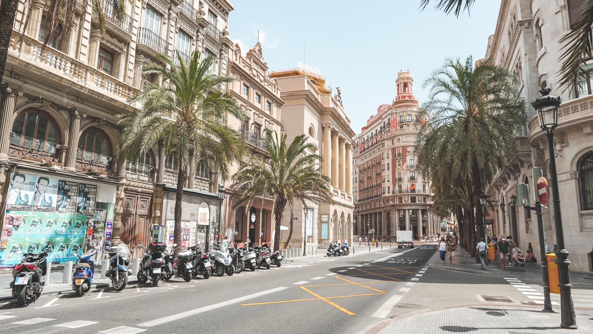 Street of Valencia Spain